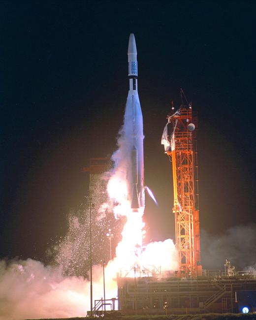 Cohete Atlas con Mariner 1