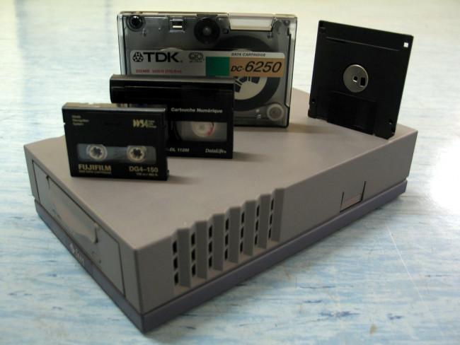 La cinta magnética del equipo microinformático