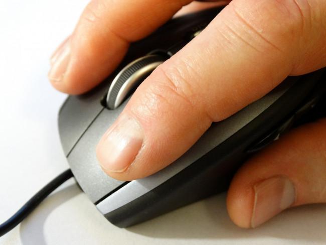 El ratón del equipo microinformático