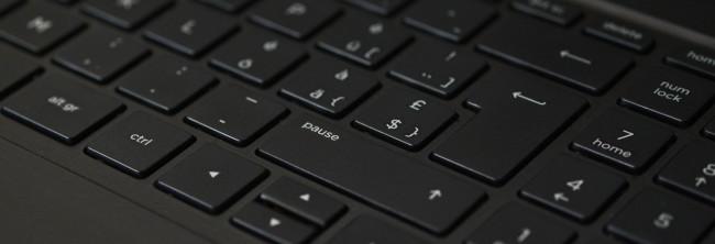 El teclado del equipo microinformático