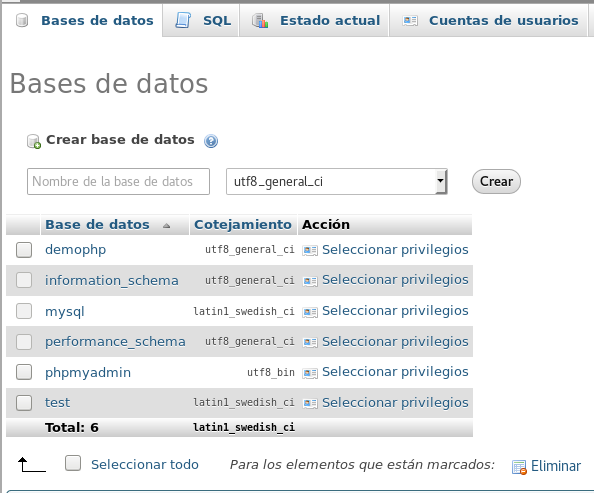 Collation y Caracter Encoding en Mysql
