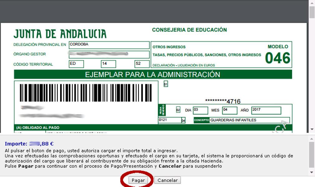 Pagar Modelo 046 De La Junta De Andalucía Ticarte